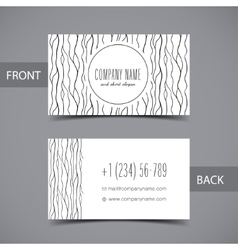 Business card front and back with abstract vector