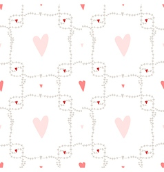 Seamless pattern with square wreath element vector