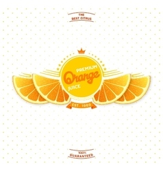Premium quality orange juice vector image
