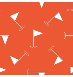 Orange flagstick pattern vector