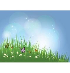 summer scene vector image