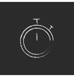 Stopwatch icon drawn in chalk vector