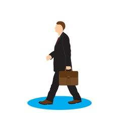 Man with briefcase businessman vector