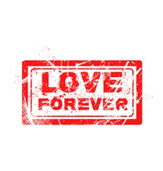 Love concept grungy rubber stamp vector