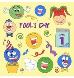 Fools day- 1 april vector