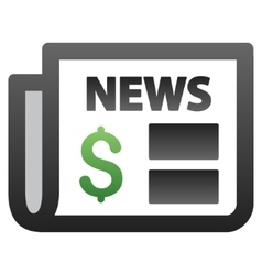 Financial newspaper gradient icon vector