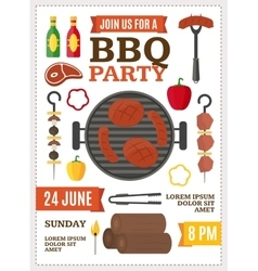 Barbecue and Grill Banner Card vector image