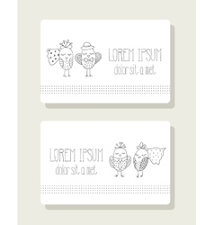 Birds in the role of bride and groom vector