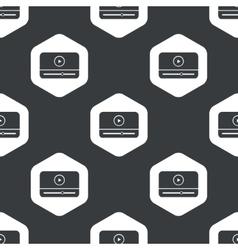 Black hexagon mediaplayer pattern vector
