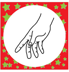 Black lines of hand gesture holding vector