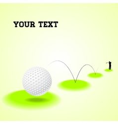 Bouncing golf ball vector