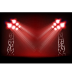 Bright stage vector image vector image