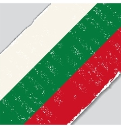 Bulgarian grunge flag vector image vector image