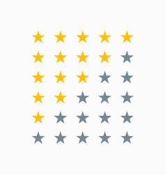 Clean star rating sign vector