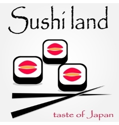 colorful sushi logotype vector image