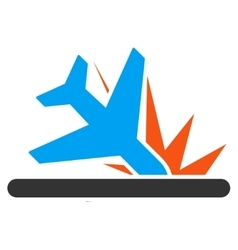 Crash landing icon vector
