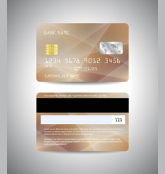 credit cards set with beige design background vector image vector image