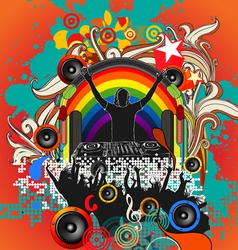 Dj music festival vector