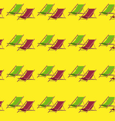 Flat summer beach chair pattern vector
