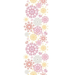 Folk floral circles abstract vertical seamless vector image vector image