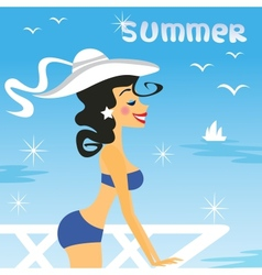 girl summer vector image