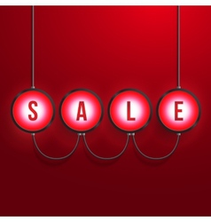 Glowing Sale Realistic Background vector image