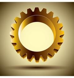 Golden gear vector image