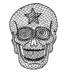 Hand draw skull vector image
