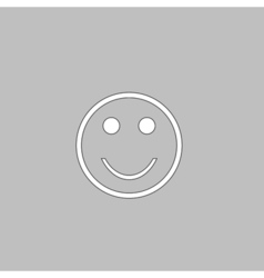 Happy face computer symbol vector image