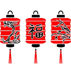 Japanese lanterns vector