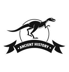 Jurassic raptor logo simple black style vector