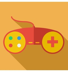 Modern flat design concept icon Gamepad computer vector image vector image