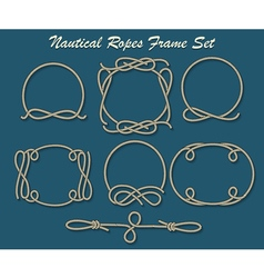 Nautical Ropes Frame set vector image vector image