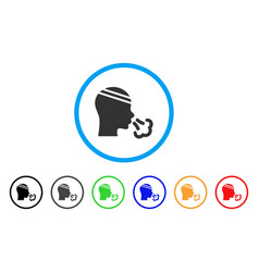 Patient sneeze rounded icon vector