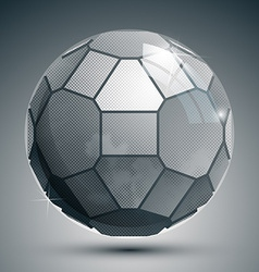 Plastic pixel grayscale dimensional sphere created vector image vector image