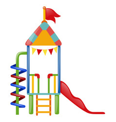 playhouse with slide and steps vector image vector image