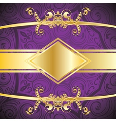 Purple Decorative Background2 vector image vector image