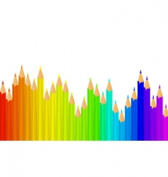 rainbow pencils vector image vector image