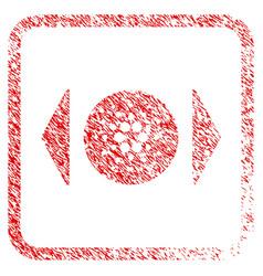 Regulate cardano framed stamp vector