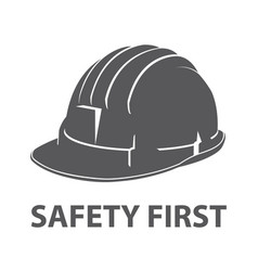 Safety hard hat icon symbol vector