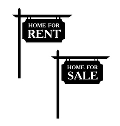 Sale and rent simple icons vector