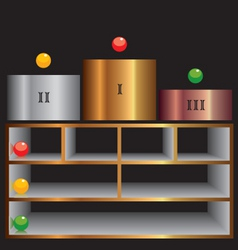 shelf vector image vector image