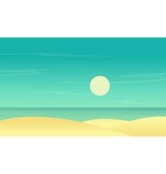 Silhouette of beach scenery flat vector