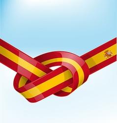 Spain ribbon flag vector