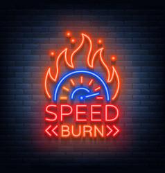 Speed burn logo emblem template logo in vector
