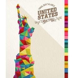 Travel usa landmark polygonal monument vector