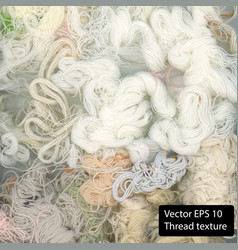 white cotton texture thread background vector image