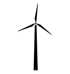 Wind turbine the black color icon vector