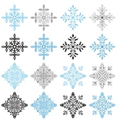 Winter Snowflakes Set vector image