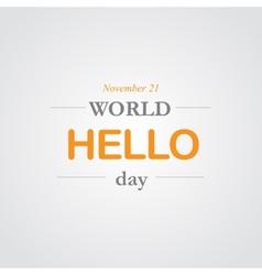 World hello day icon vector